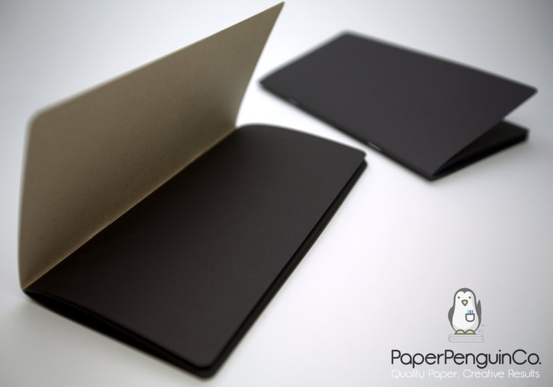 Midori Insert Black Paper MTN Travelers Notebook Black Brown Regular A5 Wide B6 Personal A6 Pocket FN Passport Mini  Bullet JournalRefill