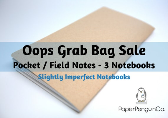 Oops Pocket Field Notes Size 3 Inserts Mystery Oops Grab Bag Sale 3 Midori Inserts Random Oops Up to 75% Off Pocket Field Notes Size