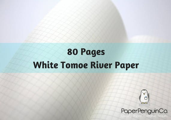 Tomoe River Paper 80 Page Travelers Notebook, Tomoe River Bullet Journal Notebook, 52 gsm White Tomoe River Paper