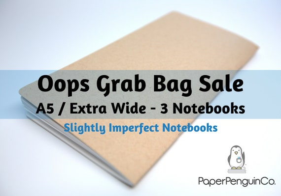 Oops A5 Extra Wide Size 3 Inserts Mystery Oops Grab Bag Sale 3 Midori Inserts Random Oops Up to 75% Off A5 Extra Wide Size