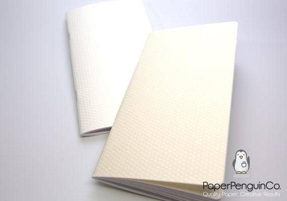 Midori Insert Japanese Edokosome White Cream Triangles (Uroko) Travelers Notebook Regular Wide B6 Personal A6 Pocket FN Passport Mini Micro