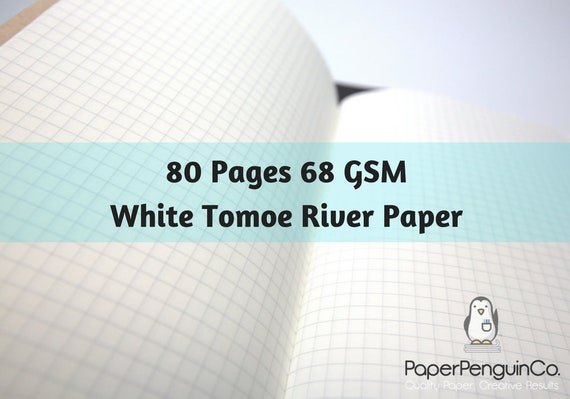 68 gsm Tomoe River Paper 80 Pages Travelers Notebook Midori Insert Bullet Journal White Traveler's Notebook Midori Notebook