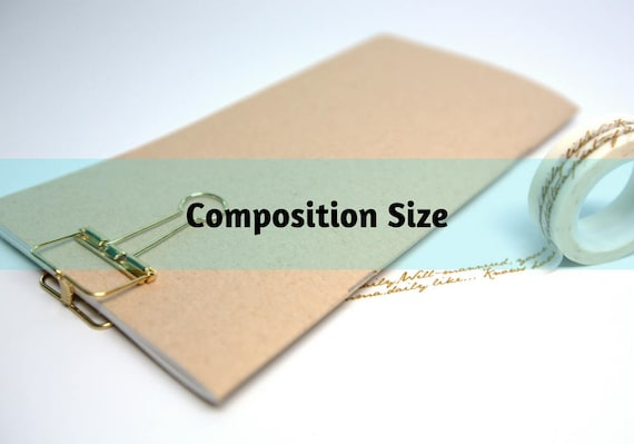 Midori Insert Kraft Brown Travelers Notebook Composition Size Only / Grid Dots Lined Blank
