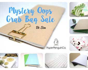 Oops B6 Size 3 Inserts Mystery Oops Grab Bag Sale 3 Midori Inserts Random Oops Up to 75% Off B6 Size