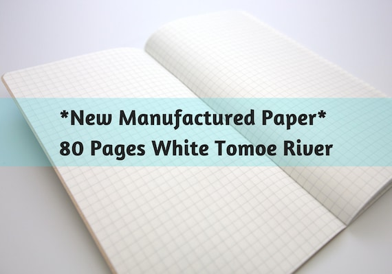 New Manufactured Paper Tomoegawa 52 gsm White Tomoe River Paper 80 Page Travelers Notebook