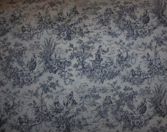 Black and white toile
