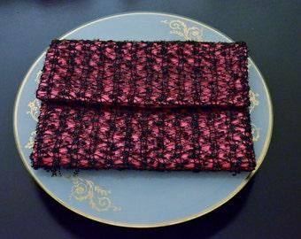 Evening Clutch,Lace clutch,Pink evening clutch, Pink  Purse, clutch bag, evening purse.