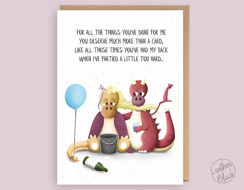 Lustige beste Freundin zum Geburtstag Karte / Funny danken