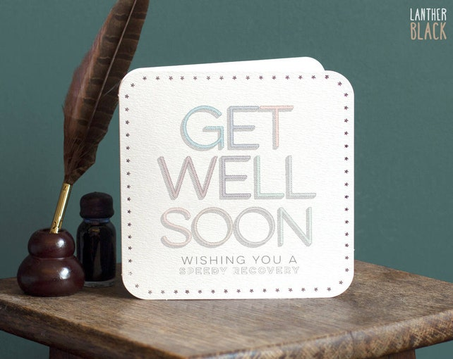 Get Well Soon Card Under the weather Speedy Recovery Accident Illness Thinking of you MT36