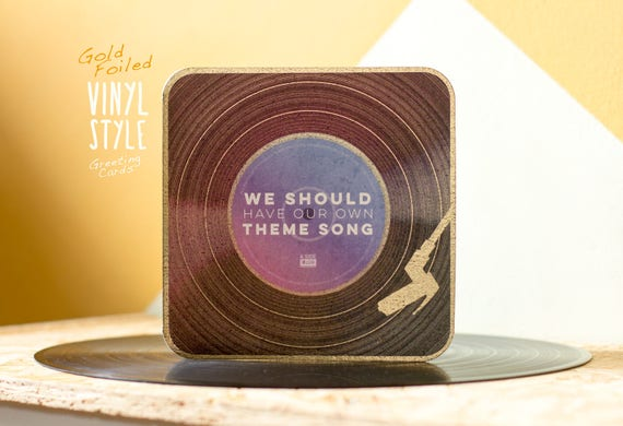 Best Friend Birthday Card Gift Vinyl Record Greeting Bff Etsy