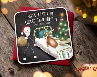 Funny Christmas Card / Christmas Card / Funny Holiday Card / Funny Cards / Funny Christmas / Funny Santa Rudolph Card / Hospital / XS05