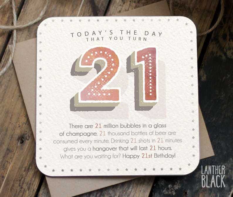 21st Birthday Card Funny