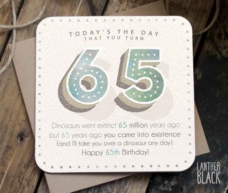 Funny 65th Birthday Card 65