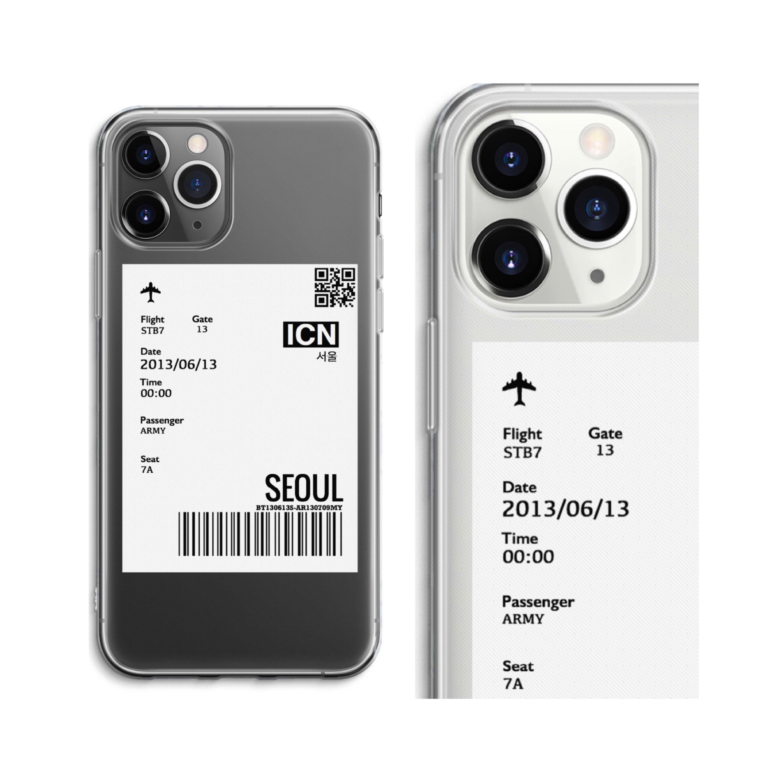 Air Ticket Design iPhone Case iPhone X Case iPhone Xs Max iPhone XR iPhone 8 Plus iPhone 7 iPhone 6 Plus iPhone 6