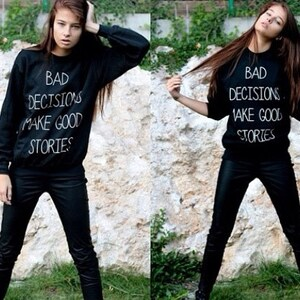 My Mom Says I/'m Pretty So F*ck You Sweatshirt Sweat shirt Black Oversized Jumper Original KYOU KYOUSTUFF
