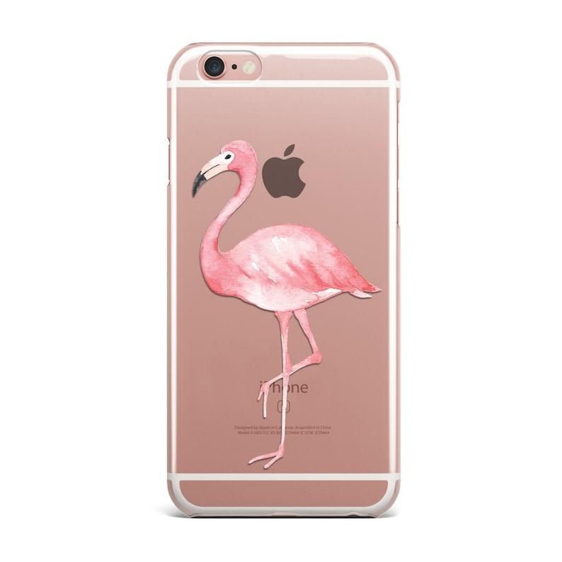 on sale e540c 66444 Flamingo iPhone Case Clear Transparent Phone Cases Cover 5/5S/6/6S/6PLUS  KYOUSTUFF