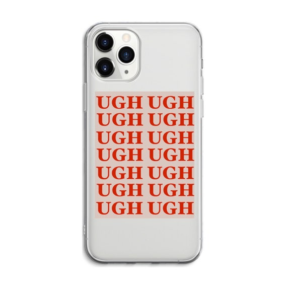 UGH iPhone Case Art Aesthetic Funny Case Red Pink Minimalism Square Phone Cases Cover iPhone 6 7 8 X XS XR 11 12 pro max