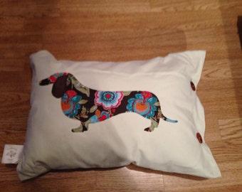 Dacschund cushion