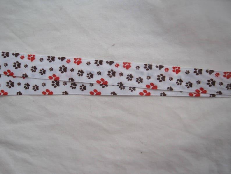 Paw Print Handmade lanyard breakaway Id Holder