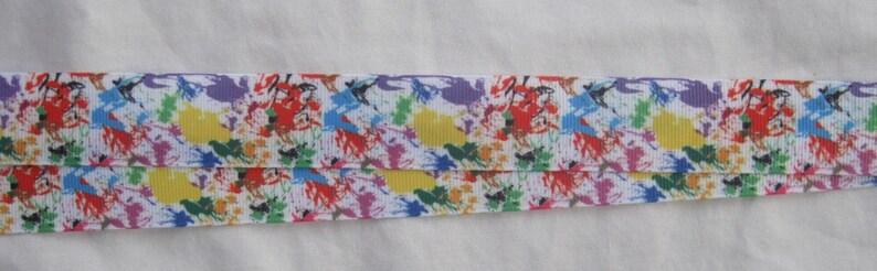 Paint splatter ribbon lanyard breakaway handmade Id Holder graffiti