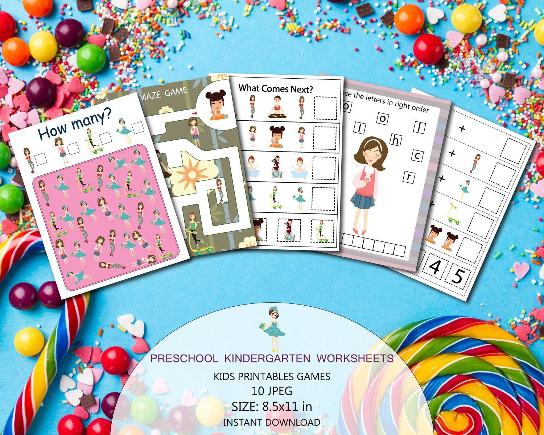 Fashion girls games Kids printable games Kids games | Etsy