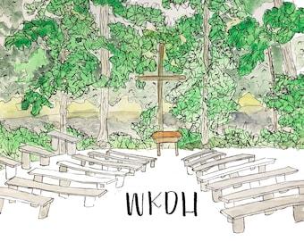 Camp WKDH Watercolor Print