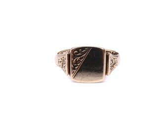 Signet, engraved rings.