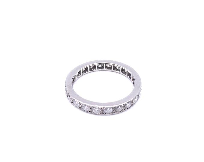 Diamond platinum eternity ring, a full eternity diamond band, an ideal anniversary gift.