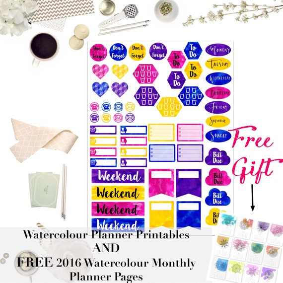 sale free gift premium digital printable planner stickers etsy