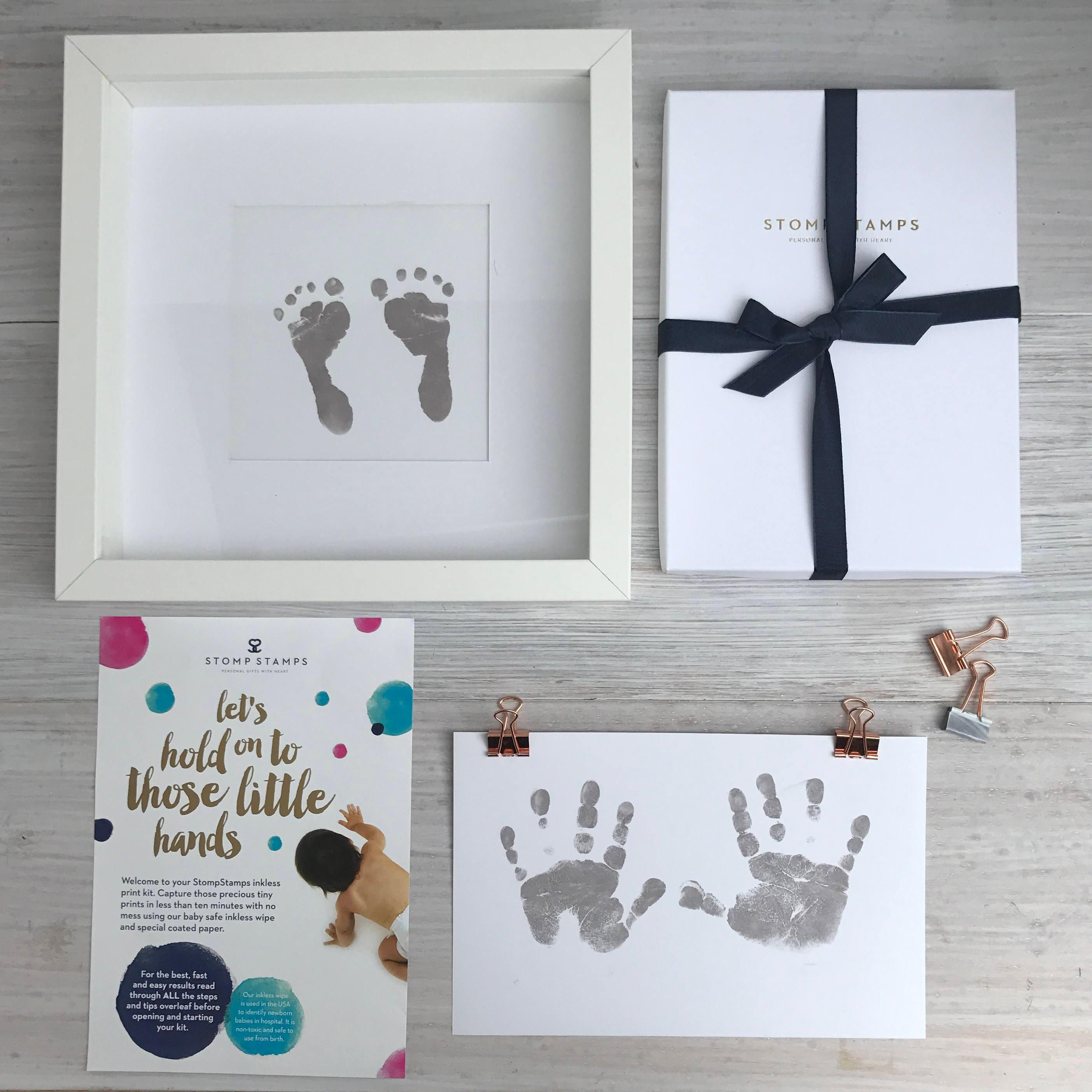 Tintenlosen Handabdruck Fußabdruck Set Neue Baby-Geschenk | Etsy