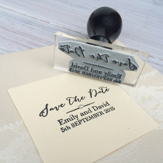 Save The Date Stamp Wedding Calligraphy