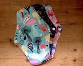 Set of 2 Organic Reusable Period Pad Sanitary Pad Washable Menstrual Pad Bamboo Cloth Wet Bag Plastic Free Zero Waste