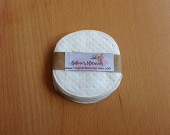 Set of 6 Facial Rounds Cotton Pads Cotton Rounds Reusable Makeup Pad Cosmetic Round Reusable Facial Pad Face Scrubbie