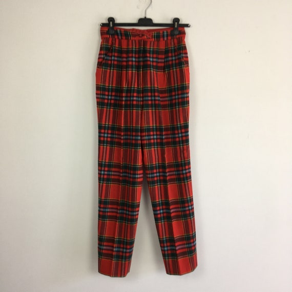 90s vintage plaid pants