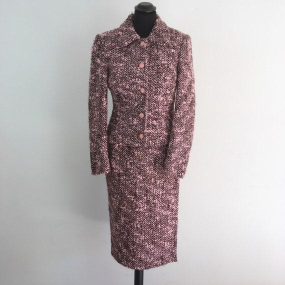 Anna Molinari pink wool suit, winter women suit, m