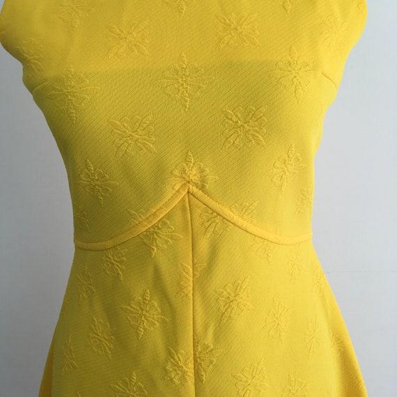 60s vintage yellow dress, 60s mini dress, 1960s m… - image 6