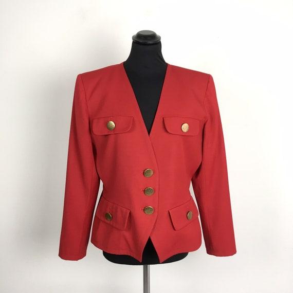 Vintage Yves Saint Laurent red wool jacket, YSL ja