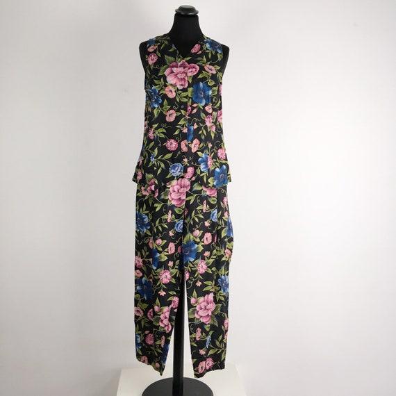 90s vintage Pennyblack dark floral print pants sui