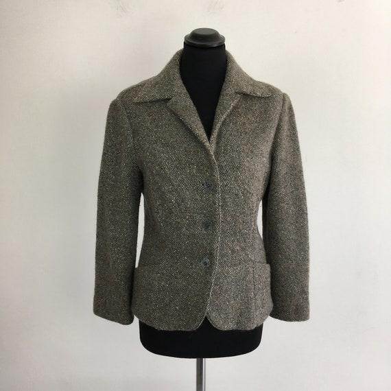 Missoni wool women jacket, fitted jacket, grey jac