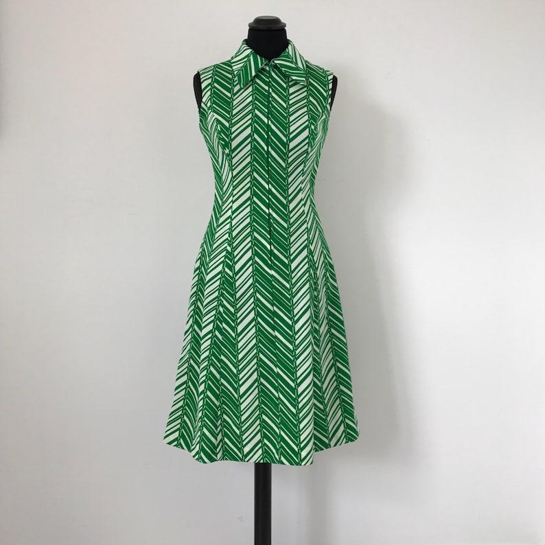 Con Anni 6070 E BiancoEtsy Vintage Geometrico Abito Motivo Verde 354RcLqAj