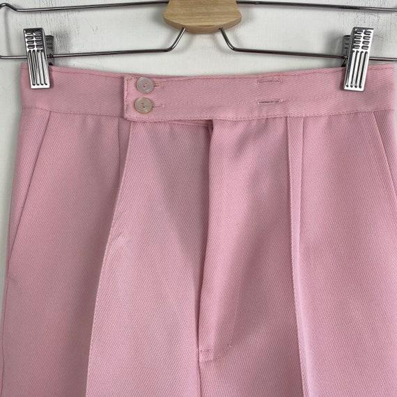 70s high waist pants, 1970s trousers, 70s wide le… - image 4
