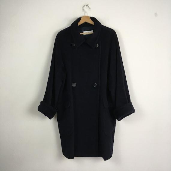 Max Mara blue wool and cachemire coat, Max Mara wo
