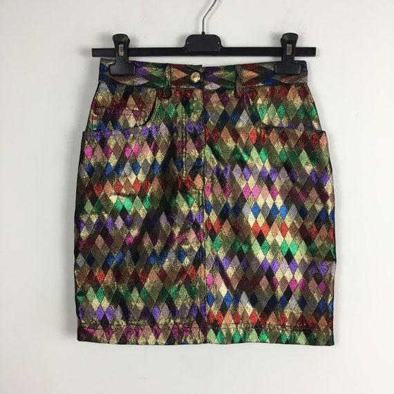 90s vintage rare Moschino arlequin skirt