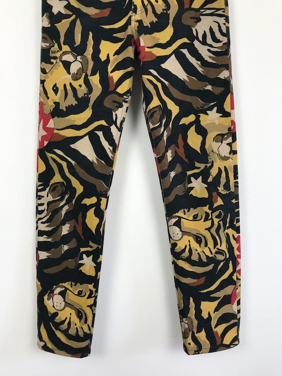 90s vintage Iceberg leopard print pants, designer… - image 4
