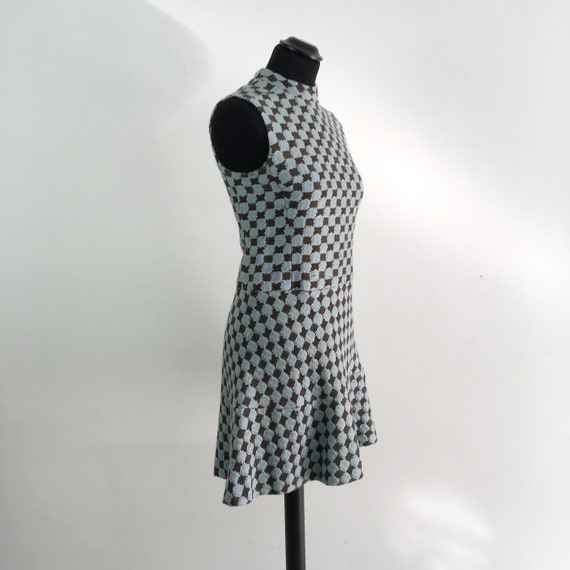 60s vintage mod mini dress, 70s mod dress, short … - image 2