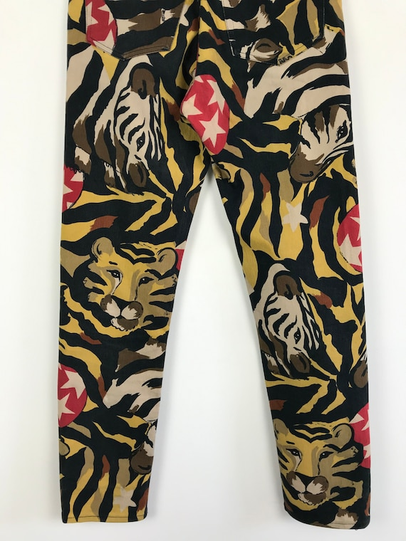 90s vintage Iceberg leopard print pants, designer… - image 5
