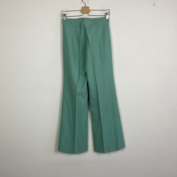 70s high waist pants, 1970s trousers, 70s wide le… - image 3