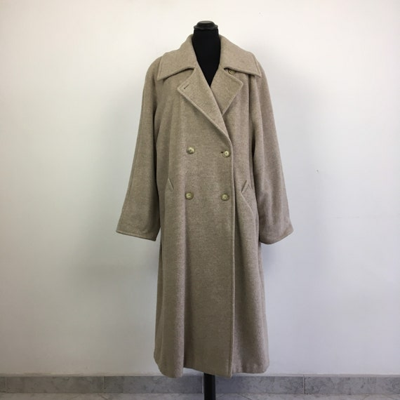 90s vintage long wool coat, oversized coat, maxi c