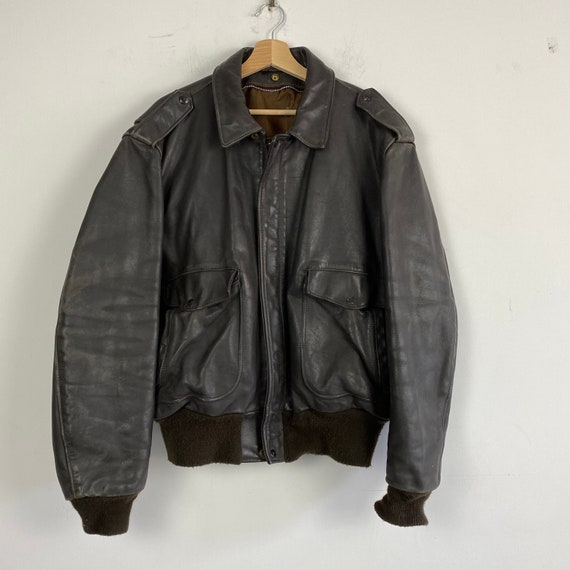 Vintage SCHOTT bomber leather jacket