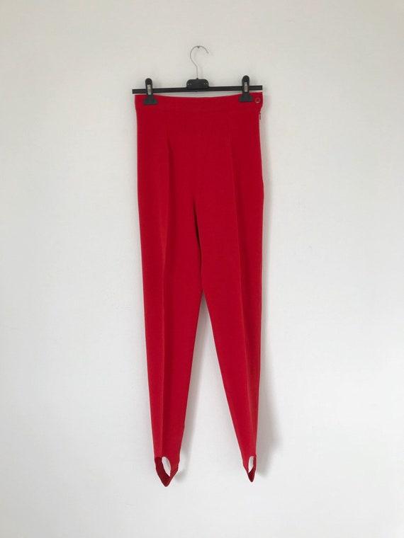 90s vintage Kenzo high waist red pants, leggings w